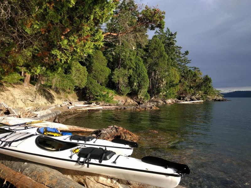 San Juan Kayaking beach view