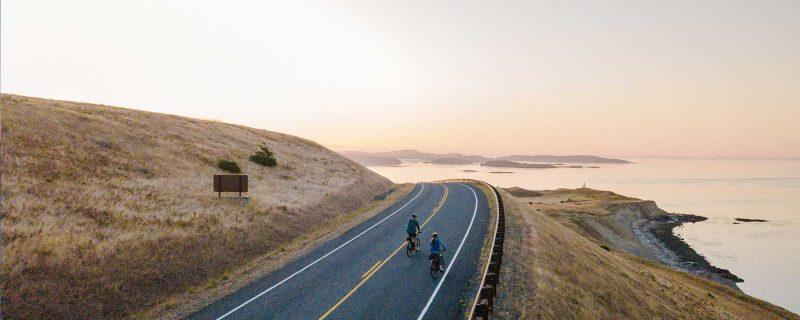 Biking cattle point San Juan island
